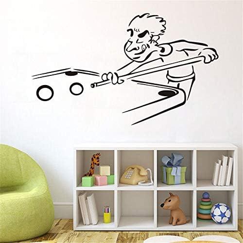 Divertido corte de billar deportes Snooker dibujos animados pegatinas de pared para niños arte vinilo pegatinas decoración del hogar salón Bedroo 57x96 cm: Amazon.es: Bebé