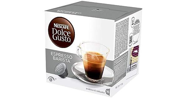 Nescafe - Dolce gusto cápsulas de café barista 16 (pack de 6 ...