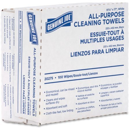 Genuine Joe All-Purpose Cleaning Towels - 1 Box