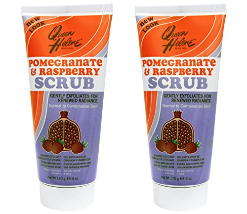 - Queen Helene Pomegranate and Raspberry Natural Face Scrub (Pack of 2) with Walnut Shell Powder, Raspberry Seed and Pomegranate Fruit Extract, Environmentally-safe and Cruelty-free, 6 oz.