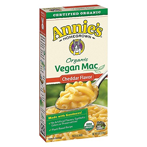 ANNIE'S HOMEGROWN, Mac&Chs, Og2, Vgn, Ched Flav, Pack of 12, Size 6 OZ, (Vegan 95%+ Organic)