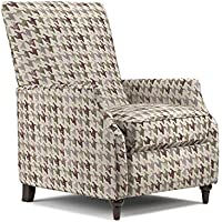 Handy Living ProLounger Purple Houndstooth Push Back Recliner Chair