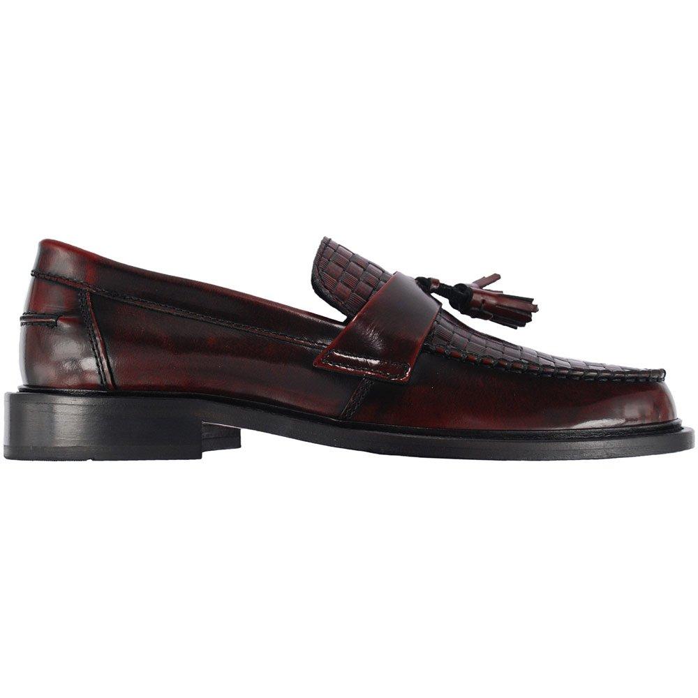 Ikon - Mocasines de Piel para Hombre Morado Rojo Burdeos, Color Morado, Talla 45 EU: Amazon.es: Zapatos y complementos