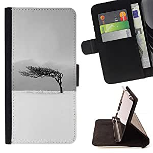 Jordan Colourful Shop - black white tree wind clean For Apple Iphone 6 PLUS 5.5 - Leather Case Absorci???¡¯???€????€????????&ce