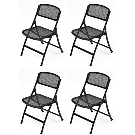 Mity Lite MESH ONE Folding Guest Chair Black 4 Pack