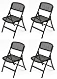 Mity-Lite MESH ONE Folding Guest Chair, Black, 4 pack