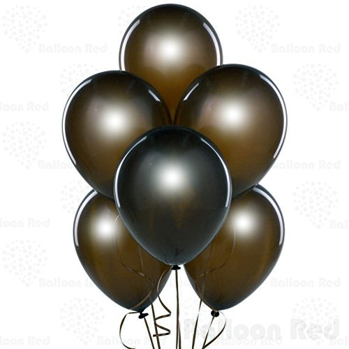 12 Inch Pearlized Latex Balloons (Premium Helium Quality), Pack of 24, Metallic Chocolate