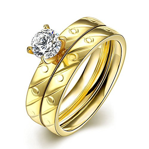 Retop Jewelry 18K Gold Plated Diamonds Womens Wedding Rings Engagement Rings LKN062 (6)