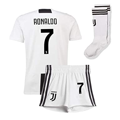 4bd5ee31037 Pdqgd Youth  7 Ronaldo Home Soccer Jersey   Shorts Socks Juventus FC 2018 19