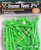 Jef World of Golf Gifts and Gallery, Inc. 2 3/4-Inch Extreme Tee - 65 Pack (Green)