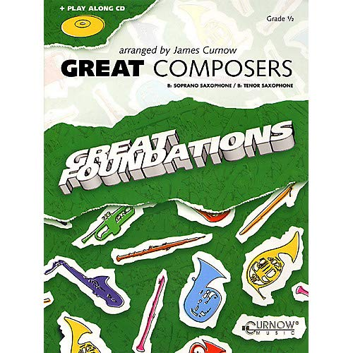 - Great Composers (Bb Soprano Sax/Bb Tenor Sax - Grade 0.5) Concert Band Level 1/2 Pack of 2
