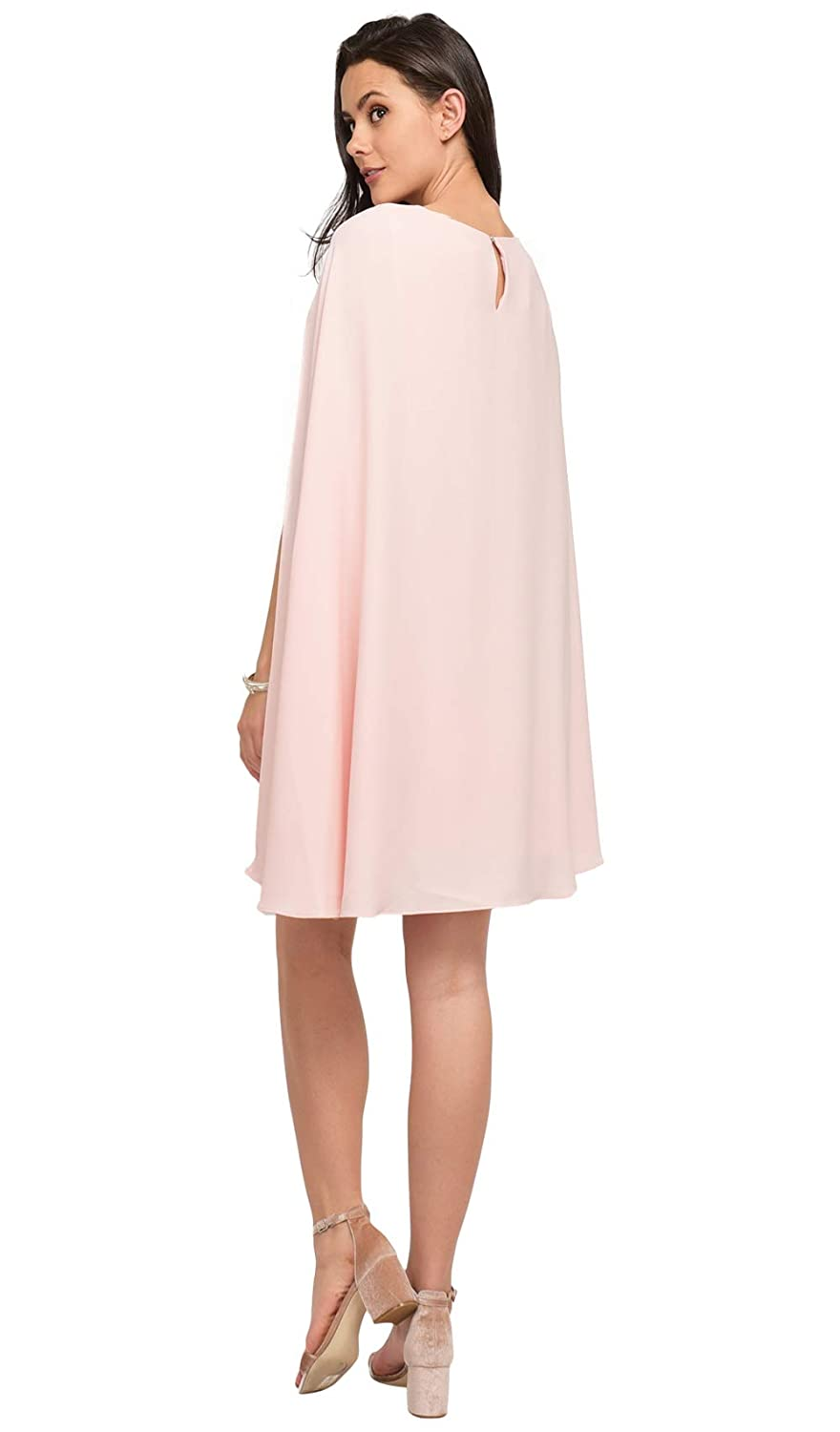 Cupl/é Cape Effect Dress Women