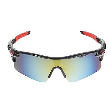 3836b1e1e707 A-szcxtop Dazzle Colour Reflective Fashion Outdoor Sports Cycling Bicycle  Fishing Driving Sunglasses 100%