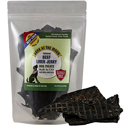 Premium Beef Jerky Dog Treats - Made in USA Only - One Ingredient: American USDA Liver, Human Grade - No Additives or Preservatives - Grain Free - Purr-fect for Cats - By Green Butterfly Brands