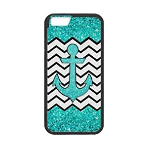 Custom Anchor Chevron cell for iphone 5 5s ,Cover for iphone 5 5s ,case for iphone 5 5s ,TPU case for iphone 5 5s ,Teal glitter anchor and chevron with zkali-3744125 at kazli.
