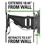 "Sanus Full-Motion TV Wall Mount for 37"" to 80"" TVs Extends 18"" & Fits Studs Up to 24"" - Bracket fits most LED, LCD, OLED, and Plasma Flat Screen TVs w/ VESA Patterns up to 600 x 400 - OLF18-B1"