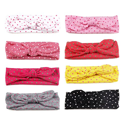 COUXILY Baby's Ploka Dot Headband Wide Head Wraps for Infant Toddler Girls (8 - Dot