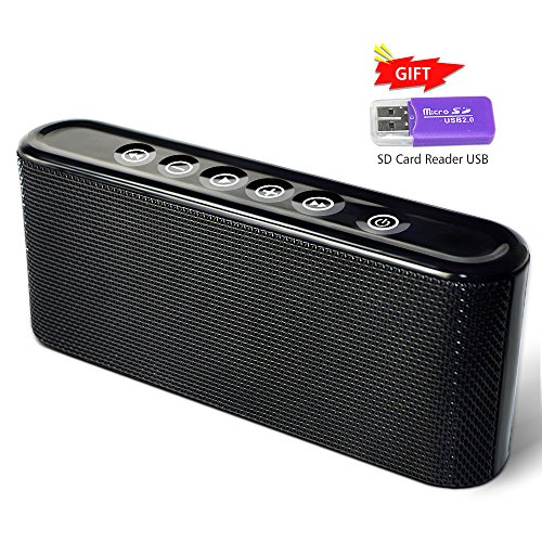 Elzoneta Portable Wireless Bluetooth Speakers, 10W Rechargeable Music Stereo Speaker with Smartphone USB Charger Port, Loudest Musics Players Strong Bass and Powerful Volume for Home, Travel (Speaker System Stereo Travel)