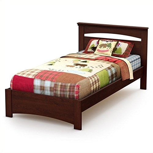 south shore sweet morning twin bed, royal cherry