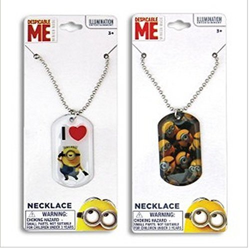 2 Minions Dog Tag Necklace 18 Despicable Me (2 Different Designs) by Kelli's]()