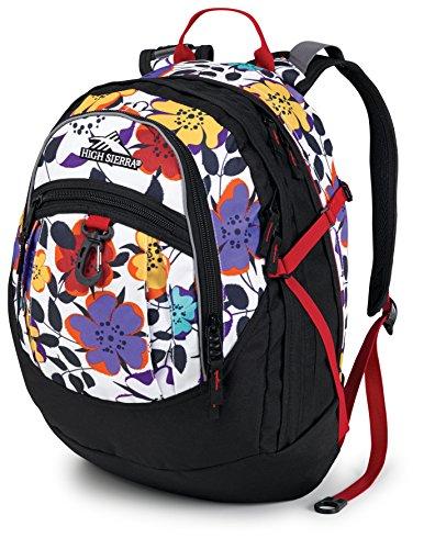 High Sierra Fat Boy Backpack, Flower Pop/Black/Crimson, 19.5 x 13 x 7-Inch