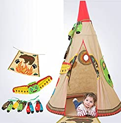 Kids Indian Teepee Tent Home Living Indoors Toys Pretend Play Children Outside