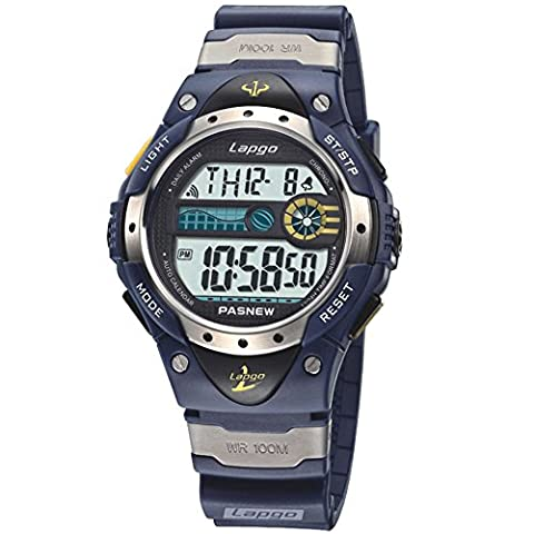 Boys Watches, LCD Digital Watches, Waterproof 100M Sports Watches Blue (Classy Sports Watch)