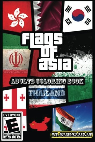 Read Online Flags of Asia: Adults coloring book ebook