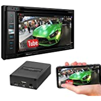"Pioneer AVIC-5201NEX In-Dash Navigation AV Receiver with 6.2"" WVGA Touchscreen Display w/SPA400 Smartphone Mirroring Adapter and a SOTS lanyard"