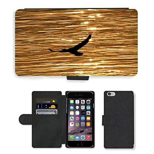 Just Phone Cases PU Leather Flip Custodia Protettiva Case Cover per // M00128406 Oiseaux Réflexion eau Egret Vol // Apple iPhone 6 PLUS 5.5""