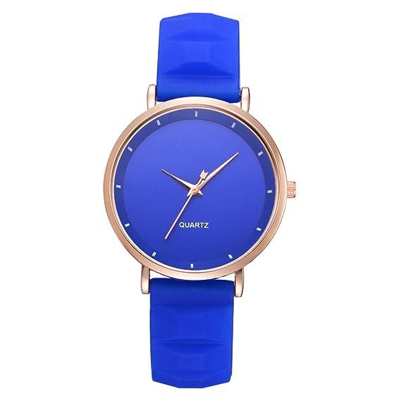 JiaMeng Reloj de Pulsera de Cuarzo de Cuero de Moda Casual de Cuarzo de la Correa