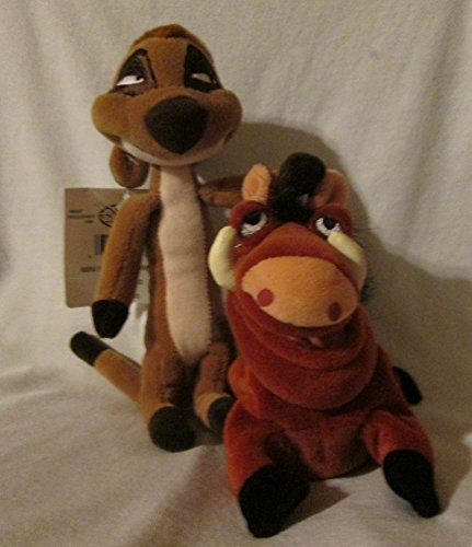 Disney Store The Lion King Timon & Pumbaa mini bean bag 8