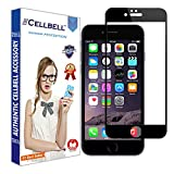 CELLBELL Tempered Glass Screen Protector For Apple iPhone 8 Plus(FULL GLUE)(EDGE TO EDGE)(BLACK) With FREE Installation Kit