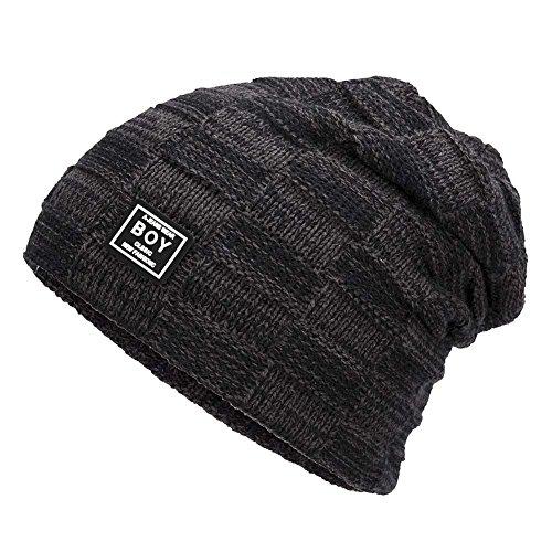 Kinsports Winter Warm Knitting Hats Wool Warm Hat Daily Slouchy hats Beanie Skull Cap