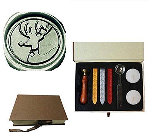 [실링스탬프] MDLG Vintage Weihnachten Deer Custom Bild Logo Hochzeit Einladung  Wax Seal Versiegelung Stempel Set Deko Box Kit
