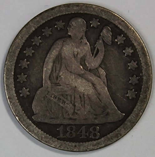 1848 Seated Liberty Dime 10c Fine