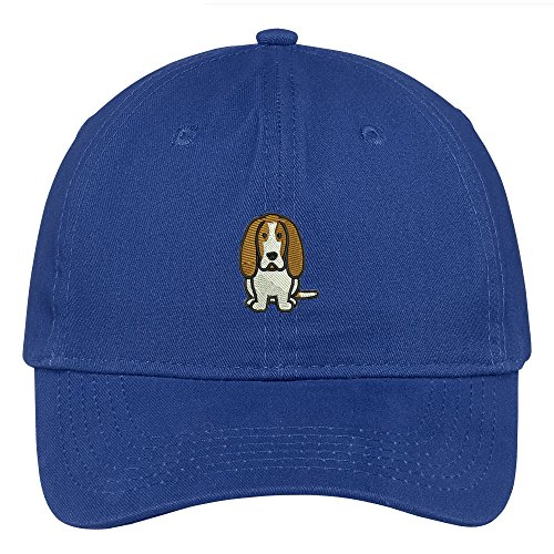 - Trendy Apparel Shop Basset Hound Dog Breed Embroidered Soft Cotton Low Profile Dad Hat Baseball Cap - Royal