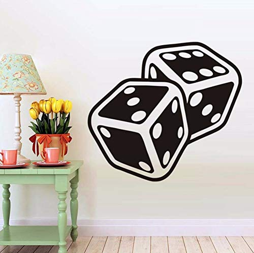liubeiniubi Dice Suits Wall Decals Vinyl Stickers for Living Room Interior Design Removable Wall Art Decals Posters Wallpaper Home Decor 64X58CM