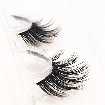 27bf45d52b1 Amazon.com : Handmade Luxurious 100% Real Mink Natural Long False Eyelashes  Fake Eye Lashes Makeup M-024 : Beauty