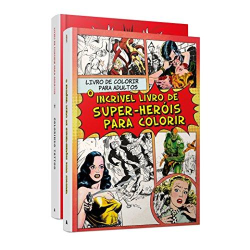 Kit - Livros de Colorir. Colorindo Tattoo + O Incrível Livro de Super-heróis Para Colorir