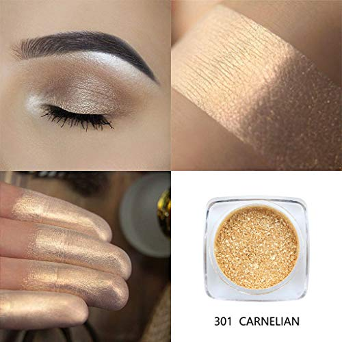 Snowfoller Glitter Single Baked Eyeshadow Shimmer Pearl Eye Shadow Diamond Makeup Powder Pigment Metallic Eye Cosmetic 12 Colors For Party (A)