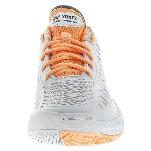 Yonex SHT Eclipsion Women's Tennis Shoe Grey/Orange (6.5)