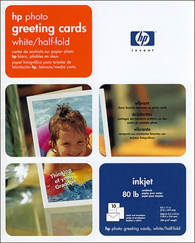 Hewlett Packard C6044A 10 Glossy Greeting Cards with Envelopes