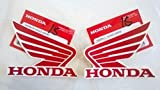 Honda 86201-K26-A00ZC / 86201-K26-A00ZC - Honda Wings Fuel Tank Gas Tank Stickers Decals 2 X 85MM Red / White Left & Right Genuine