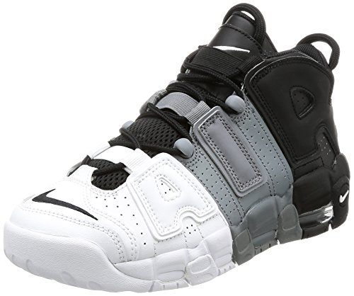 415082-005 GRADE SCHOOL AIR MORE UPTEMPO (GS) NIKE BLACK COOL GREY WHITE by NIKE