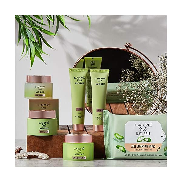 LAKMÉ 9to5 Natural Aloe Cleansing Wipes, 141 g 2021 August deep cleans & hydrates skin 100% pure alovera gently cleanse all dirt & impurities