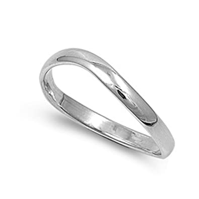 925 Sterling Silver ADJUSTABLE Band Ring 3.5mm Thick CHOOSE Small(M) Medium(R) or Large(W) StO6RvMlUJ