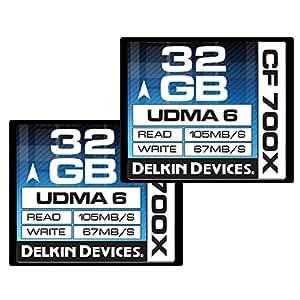 Delkin 32 GB CF 700X UDMA 6 Memory Card, 2 Pack (DDCF700-32 GB(2X32))