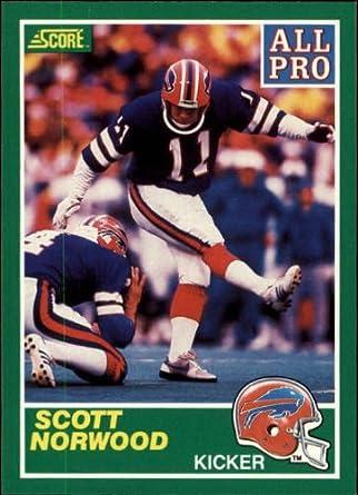 Amazoncom 1989 Score Football Rookie Card 290 Scott Norwood Near