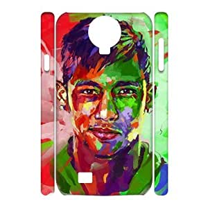3D [Neymar Jr Series] Samsung Galaxy S4 Cases Neymar Jr. Abstract Painting Watercolor, Phone Case For Samsung Galaxy S4 For Men Yearinspace - White